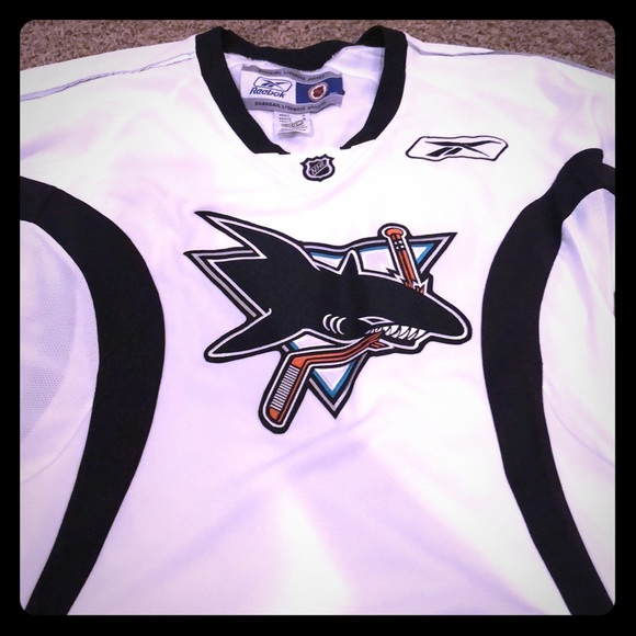 best sneakers 0cd21 850d7 Authentic white San Jose Sharks Jersey